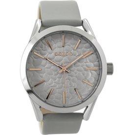 OOZOO Horloge lichtgrijs 43mm C9471 - OOZOO