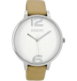 OOZOO Horloge zand wit 42mm C8656 - OOZOO