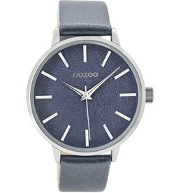 OOZOO Horloge metallic blauw 42mm C9499 - OOZOO