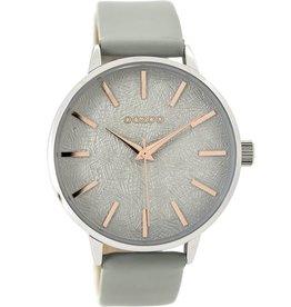 OOZOO Horloge steengrijs rosé 42mm C9495 - OOZOO