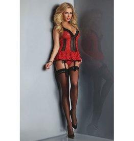 Livia Corsetti Fashion Red Rose Jarretelset