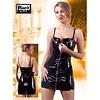 Black Level Vinyl mini jurkje met rits