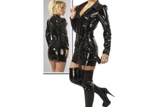 Black Level Kort lak jasje / mini jurkje