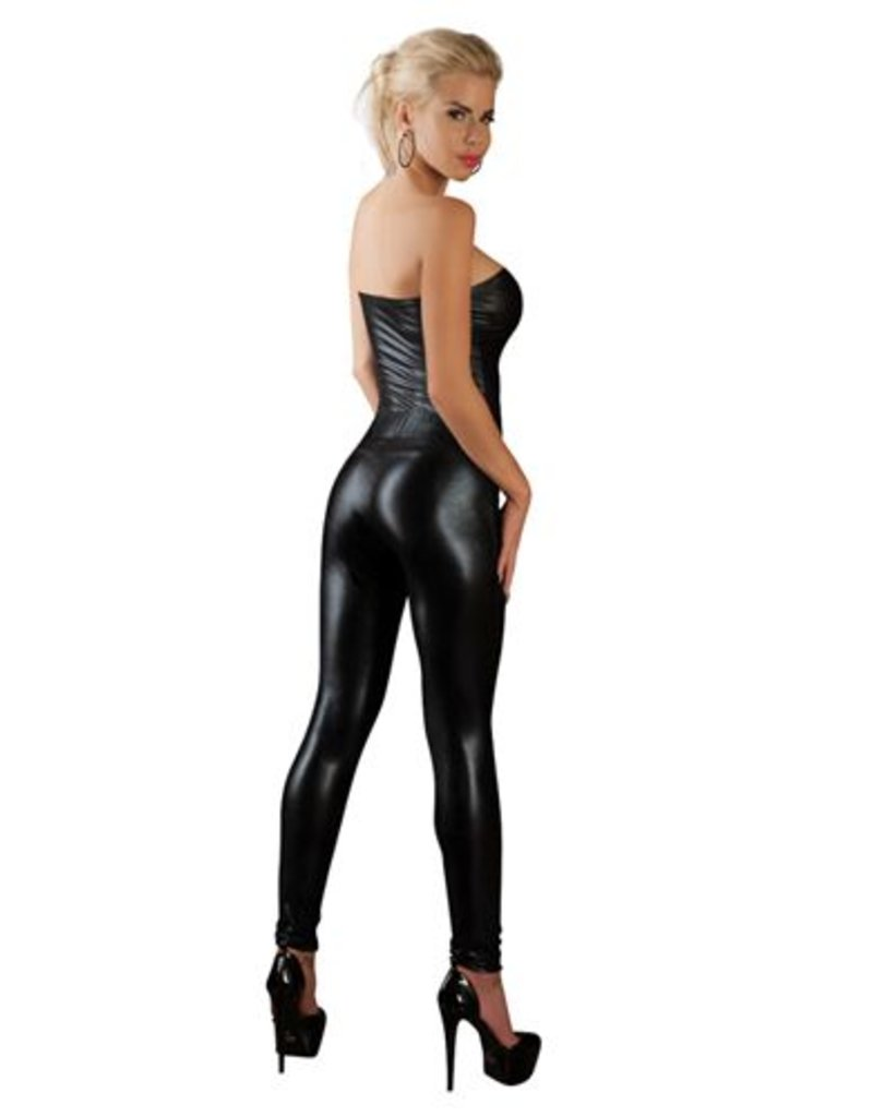 Cottelli Collection Wetlook Strapless Catsuit