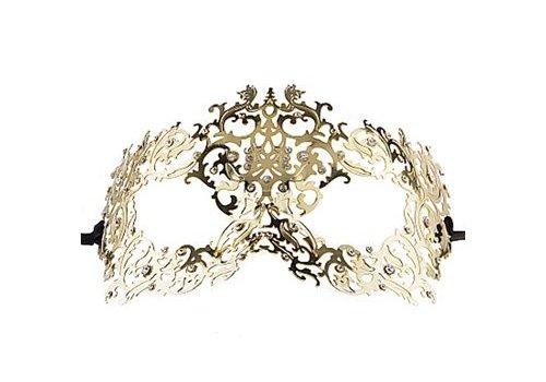 Ouch Bos Koningin Venetiaans Masker - Goud