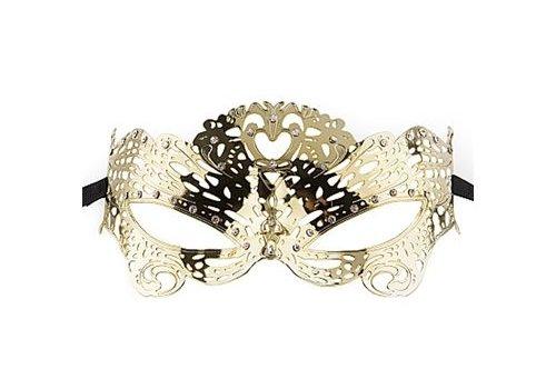 Ouch Venetiaans masker Vlinder - Goud