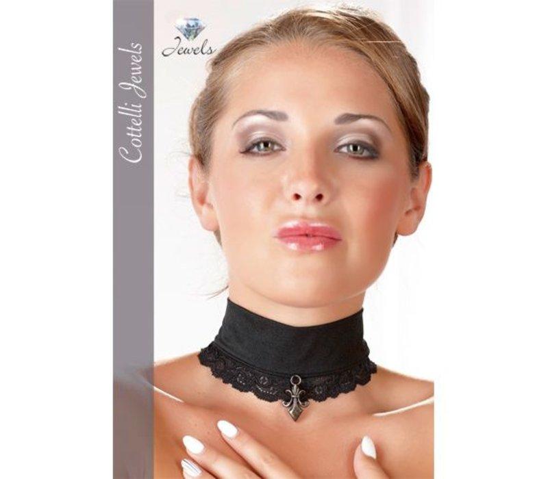Kanten Halsband met versiersel