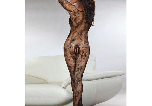 Livia Corsetti Fashion Helia Catsuit Met Open Kruis - Zwart