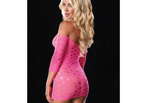 Leg Avenue Roze mini jurk met gaten