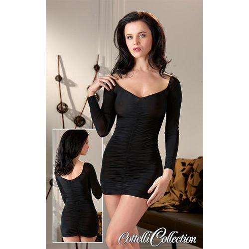 Cottelli Collection Zwart pikant jurkje
