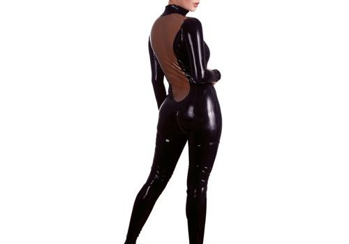 The Latex Collection Latex Catsuit Zwart