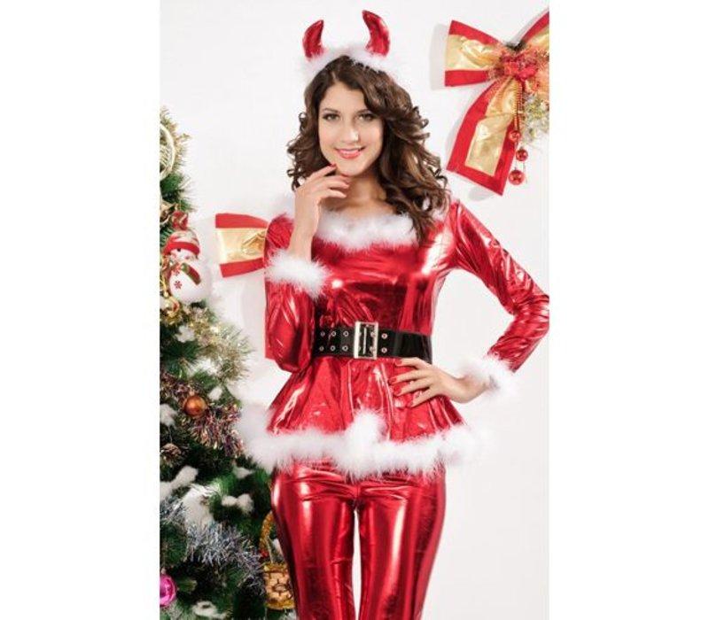 4-delig Kerstpakje - Christmas Dress Red
