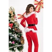 3-delig Kerstjurkje - Punky Santa Hoodie