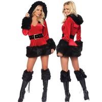 3-delige Miss Santa Outfit Black