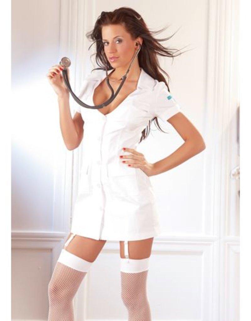 Cottelli Collection Wit Verpleegster Jurkje