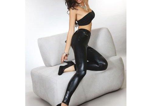 Livia Corsetti Fashion Ayasha Legging Leder Look - Zwart