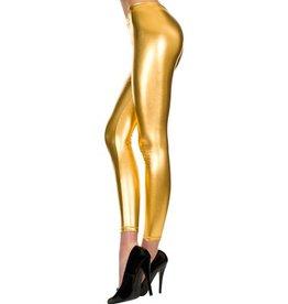 Music Legs Lange Metallic Legging - Goud