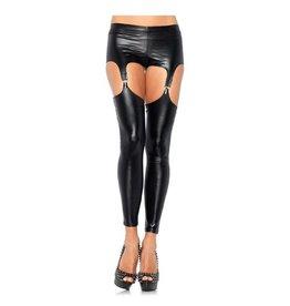 Leg Avenue Wet look legging jarretels