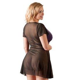 Cottelli Collection Plus Size Jurkje - Paars/Zwart