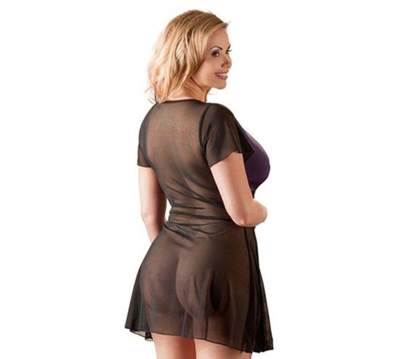 Plus Size Jurkje - Paars/Zwart