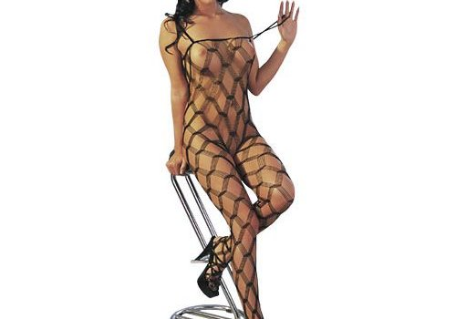Mandy mystery Line Grove net design catsuit Barbara S-L