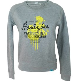 ajoofa Honeybee - Sweatshirt grau meliert