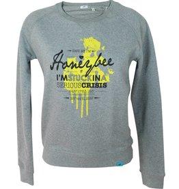 ajoofa Honeybee - sweatshirt heather grey