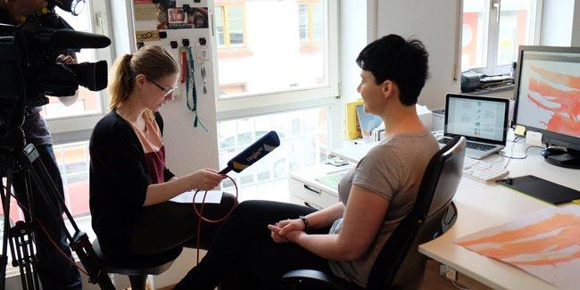 Behind the scenes: Regio TV zu Besuch