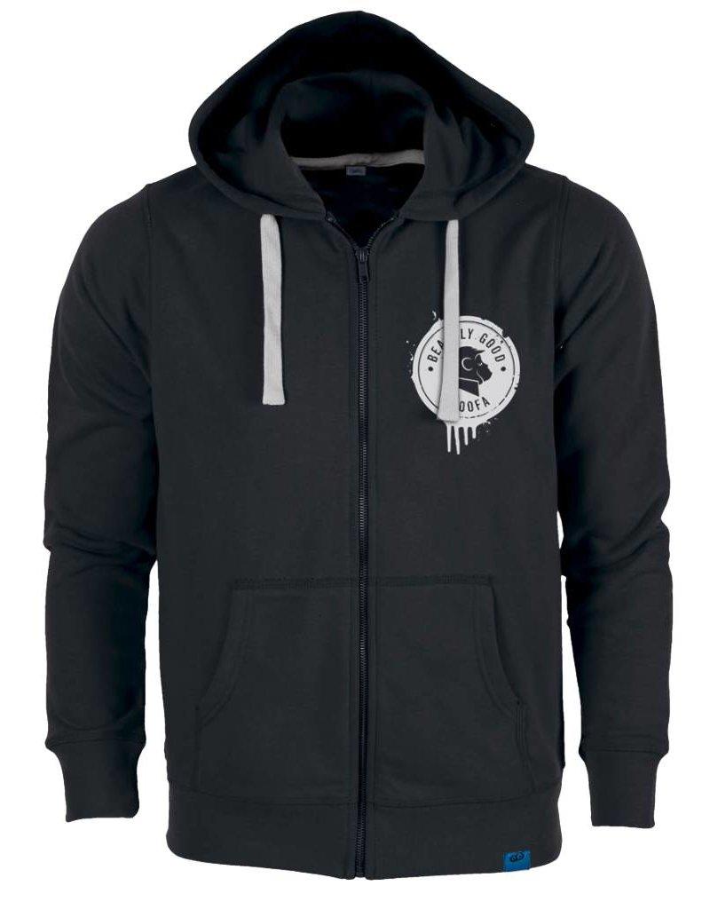 ajoofa Beastly Good Zipper-Hoodie - black