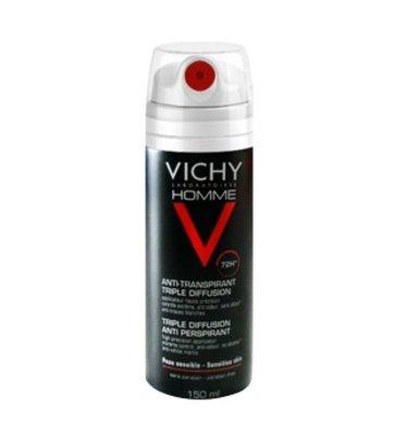Vichy Homme Deodorant Anti-Transpirant Triple Diffusion 72uur Spray (150ml)