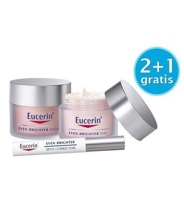 Eucerin Actiepakket Even Brighter Dagcrème (50 ml) & Nachtcrème (50 ml) & Spotcorrector (5 ml)