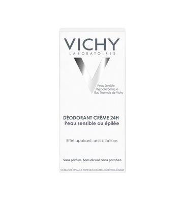 Vichy Deodorant Gevoelige of Geëpileerde Huid Crème (40ml)