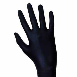 Unigloves Black Mamba Latex Einweghandschuhe puderfrei schwarz