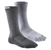Injinji Men's Liner+Hiker Crew Charcoal + Gray