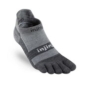 Injinji Run Lightweight No-Show NüWool - Charcoal