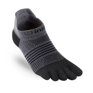 Injinji Women's Run Lightweight No-Show Black-Grey