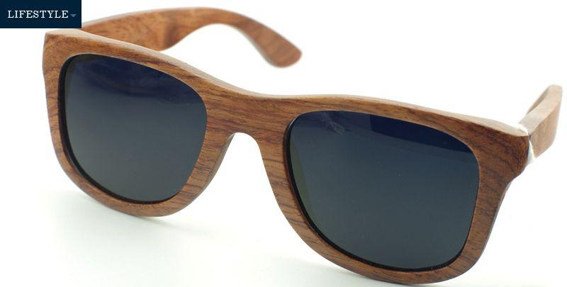 Holz-Bambus-Sonnenbrille