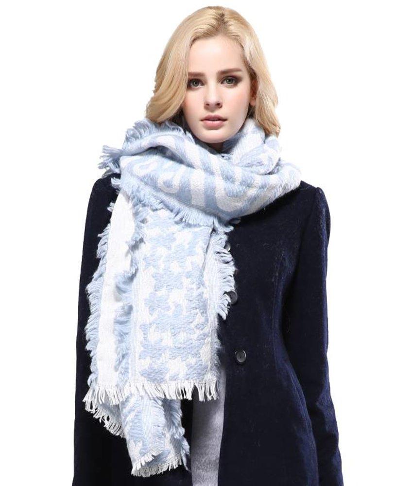 Vianosi Baumwolle Fashion Schal Hellblau