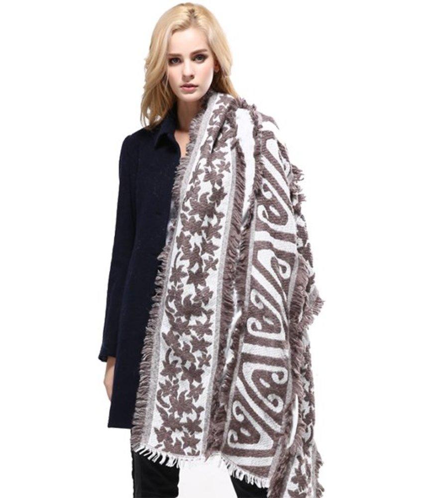 Vianosi Baumwolle Fashion Schal Braun