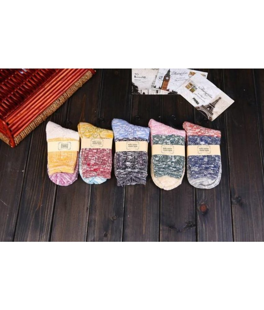 Farbige Baumwollen Socken 5 Paar