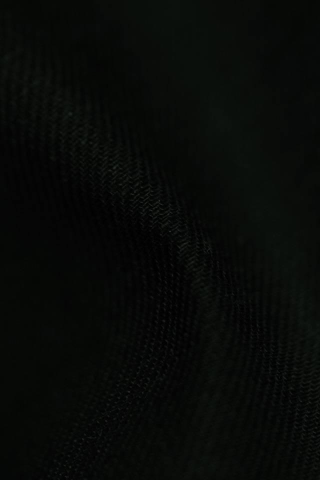 gabardine cotton – linen, black