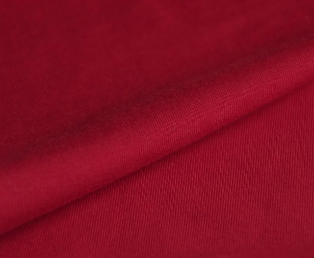 jersey stretch from organic cotton, tango red