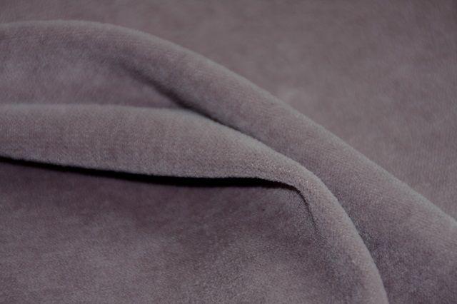 velours van biologische katoen, grijs
