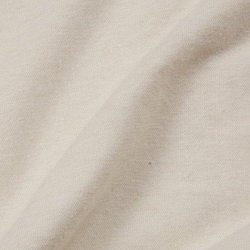 jersey from hemp and organic cotton (medium weight), natural white