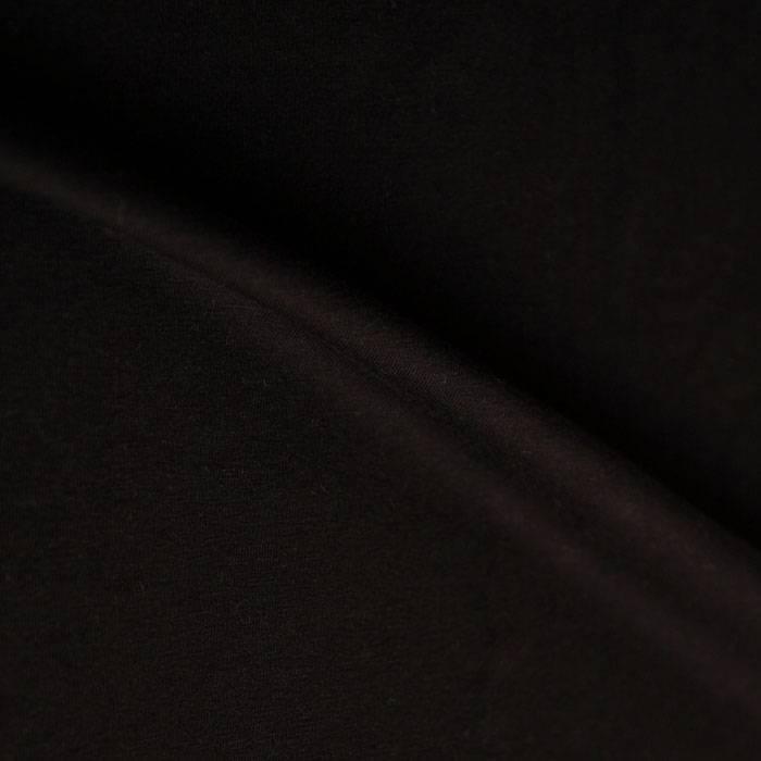 jersey van biologische katoen, zwart
