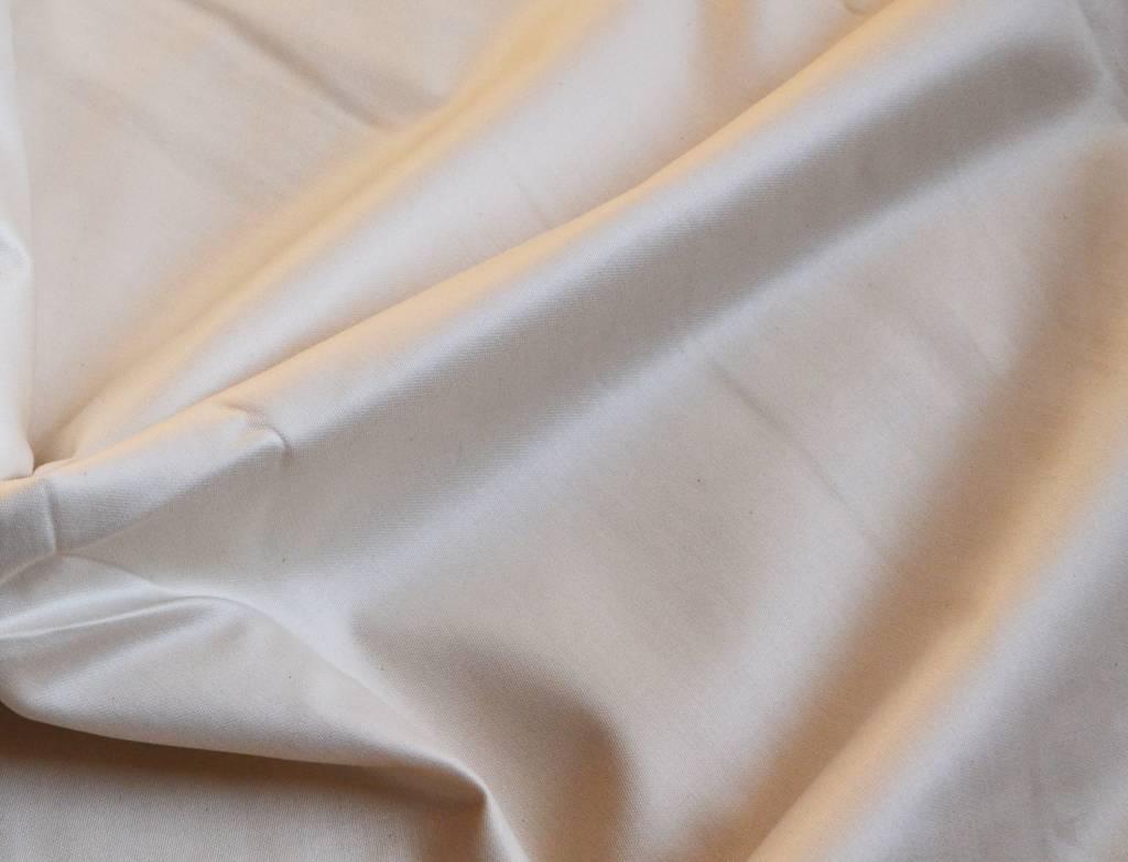 flat sheet from organic cotton sateen, natural