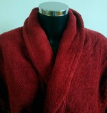 bathrobe from organic cotton terry bordeaux red