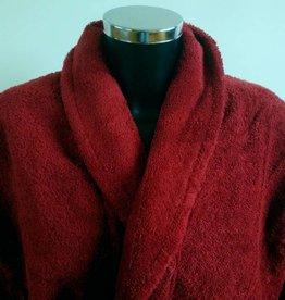 bathrobe bordeaux red