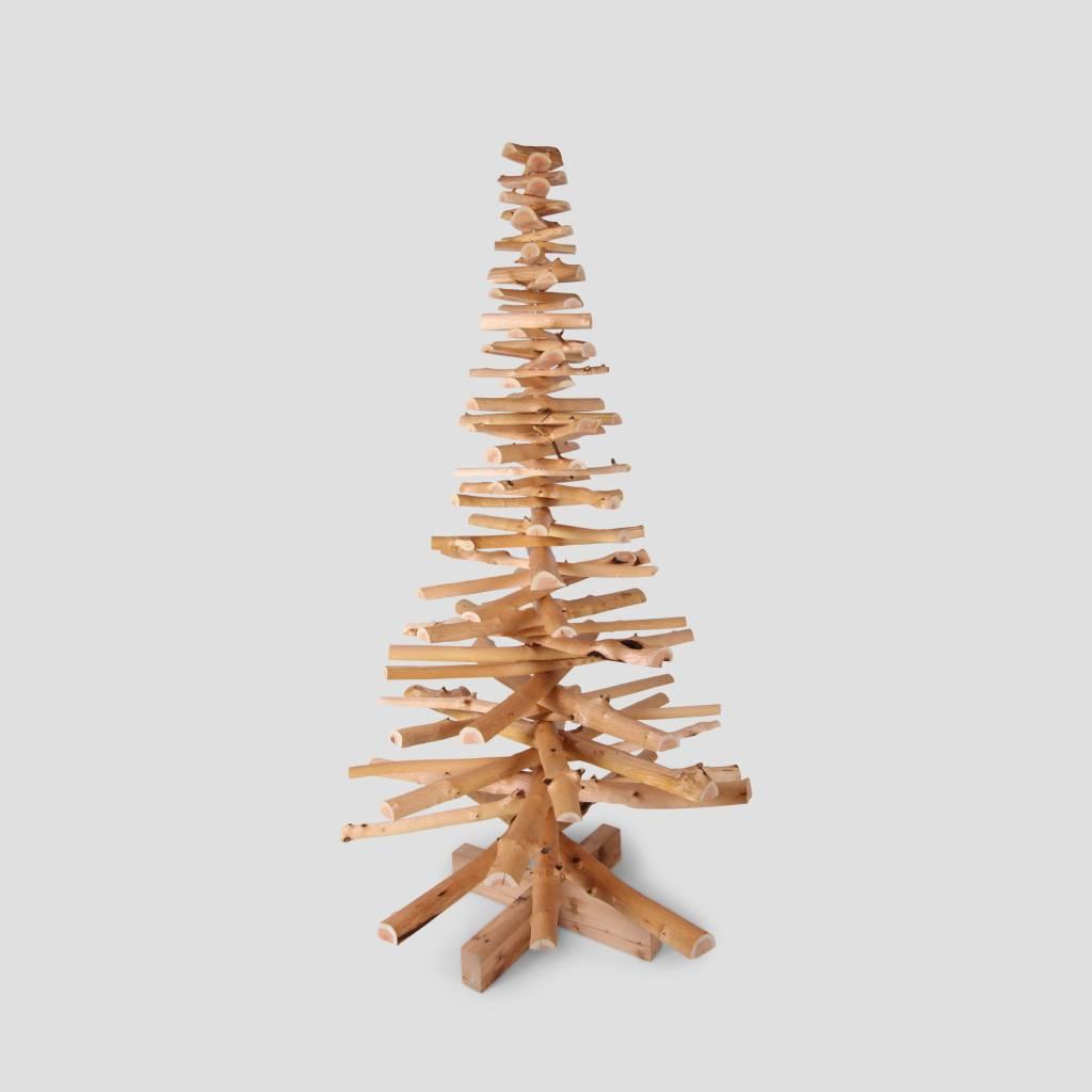 Houten kerstboom sporkehout