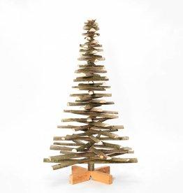 Houten kerstboom lijsterbes met bast